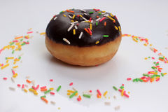 DONUT WITH CHOCOLATE Stock Photo