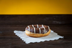 Donut in chocolate glaze Stock Photo