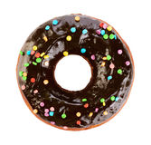 Donut with chocolate glaze. Royalty Free Stock Photos