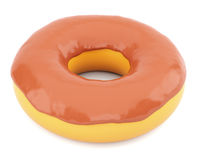 Donut in chocolate glaze Stock Images
