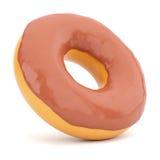 Donut in chocolate glaze Royalty Free Stock Image