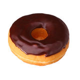 Donut with chocolate glazing isolated Royalty Free Stock Photos