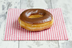 Donut with chocolate Stock Images