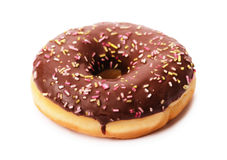 Donut with chocolate Royalty Free Stock Image