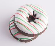 Donut. Christmas Donut On The Background Stock Photography