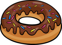 Donut clip art cartoon illustration Stock Image