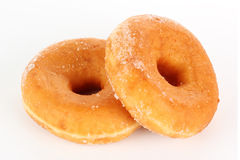 Donut coated with sugar Royalty Free Stock Image