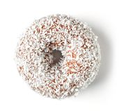 Coconut donut isolated on white, from above Stock Image