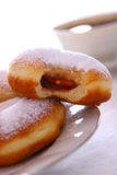 Donut with coffee Stock Photos