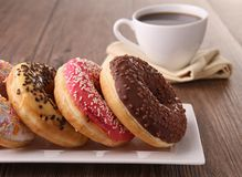 Donut and coffee Royalty Free Stock Photography