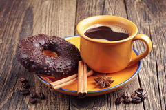 Donut and coffee Royalty Free Stock Image