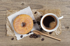 Donut and coffee cup Stock Image