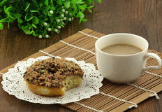 Donut and coffee Royalty Free Stock Images