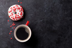 Donut and coffee Royalty Free Stock Photos