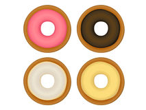Donut Collection. Vector File EPS10 Royalty Free Stock Photo