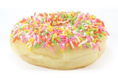 Donut with Colored Rice Sprinkle Royalty Free Stock Image