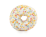 Donut with colorful sprinkles Royalty Free Stock Photo