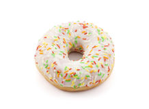 Donut with colorful sprinkles Stock Images