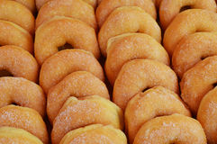 Donut. Cook sweet homemade fat cooking Royalty Free Stock Photos