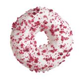 Donut with cream cheese royalty free stock image