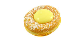 Donut with cream Royalty Free Stock Image