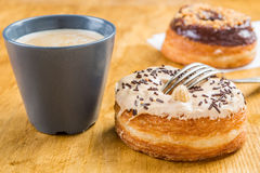 Donut cronut on a wodden table Stock Images
