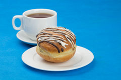 Donut and cup Stock Photo