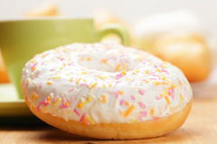 Donut and cup Royalty Free Stock Photo