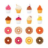Donut cupcake icon Royalty Free Stock Photography