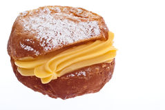 Donut with custard Royalty Free Stock Photo