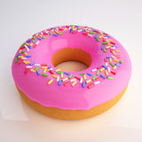 Donut 3d illustration. Over white background Royalty Free Stock Photo