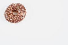 Donut, delicius. Delicious and unhealthy donut lying on a table ready to eat Royalty Free Stock Photos