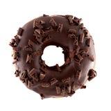 Donut in der Schokolade mit Chips Stockfoto