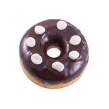 Donut in der Schokolade mit Eibisch Lizenzfreies Stockfoto