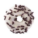 Donut in der Wightschokolade mit Chips Stockfoto
