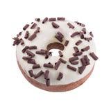 Donut in der Wightschokolade mit Chips Lizenzfreie Stockbilder