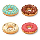 Donut dessert set Royalty Free Stock Photo
