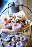 Donut Display Shot Vertically Stock Photography