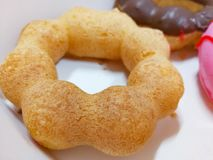 Donut. With sugar in box Stock Images