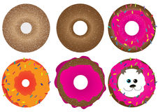 Donut, Doughnut_eps. Illustration of doughnut. Additional doughnut bear. Isolated on white background Stock Photo