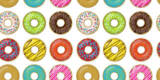 Donut doughnuts different setting set collection taste color gla Royalty Free Stock Images