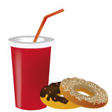 Donut and a drink Stock Image