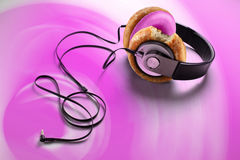 Donut earphone Royalty Free Stock Photography