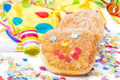 Donut with face, Carnival Stock Image