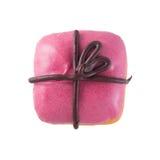 Donut in Form als Geschenk Stockfoto