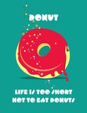 Donut with frosting poster Royalty Free Stock Photography