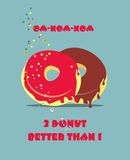 Donut with frosting poster Stock Photos