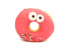 Donut in glaze. On white background royalty free stock photo