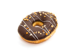 Donut in glaze. On white background stock photography