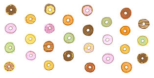 Donut icon illustration, food Stock Photos